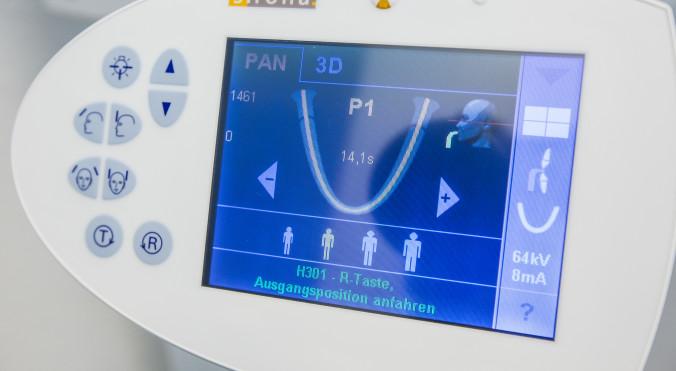 Digitales Kontrollzentrum des hochpräzisen Röntgengeräts